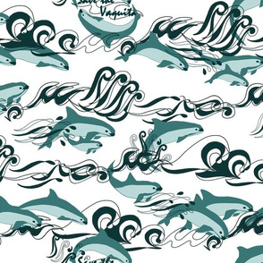 Save The Vaquita Teal on White