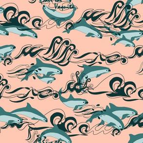 Save The Vaquita Teal on Rose