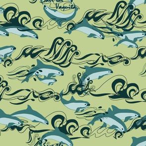 Save The Vaquita Teal on Green