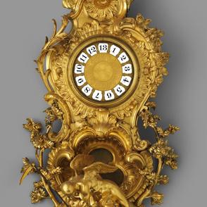 Antique Clock Base Wallpaper
