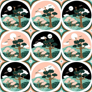 Round Tiled Nature Scenes Limited Palette