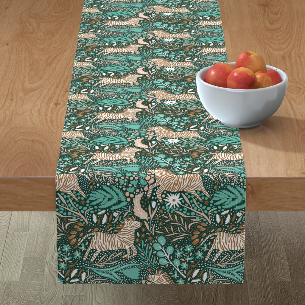 Minorca Table Runner featuring Zebra Kingdom - Limited Color Palette Challenge - 2019 by scarlette_soleil