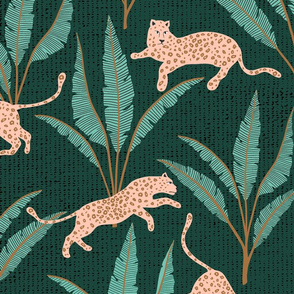 leopard forest/dark/large scale