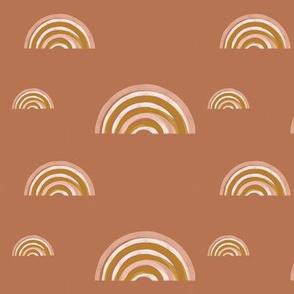 freehand rainbows - terracotta