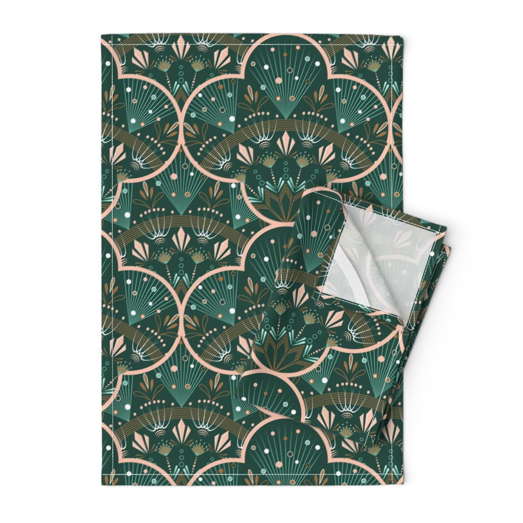 Orpington Tea Towels featuring art deco by cleorie_designs