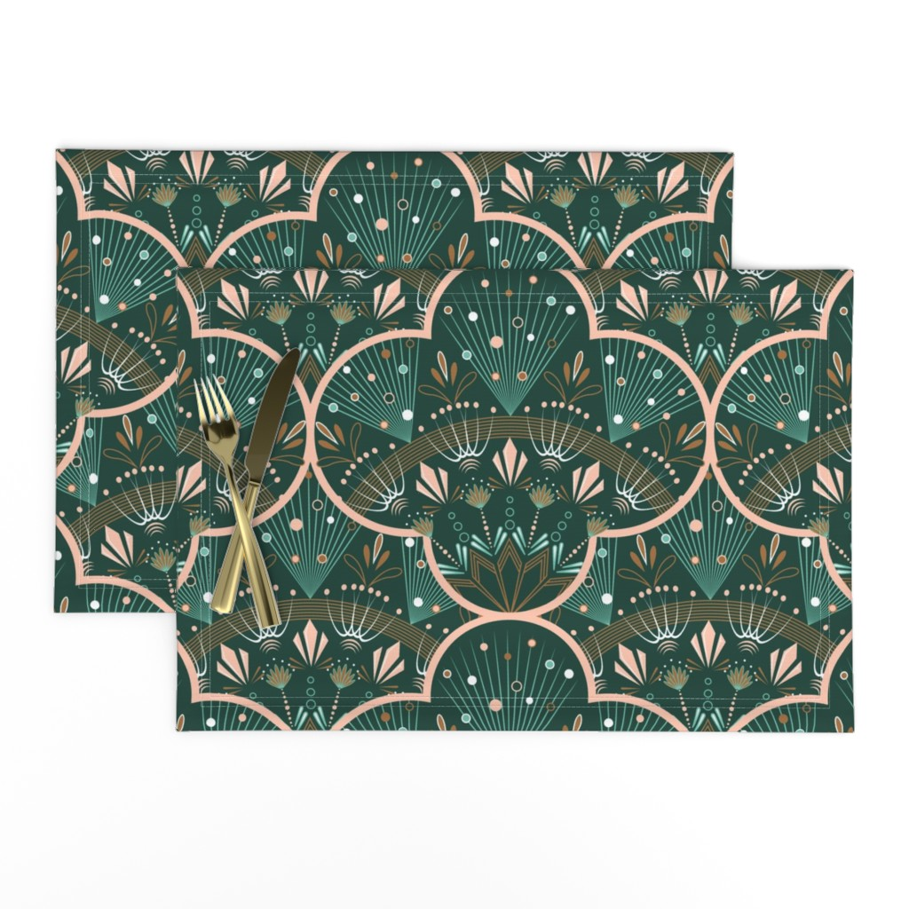 Lamona Cloth Placemats featuring art deco by cleorie_designs