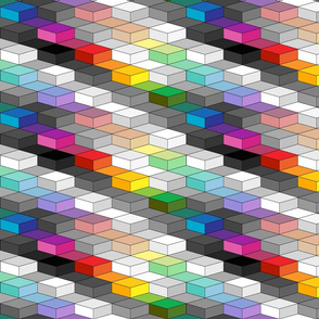 Color Spectrum Staircases