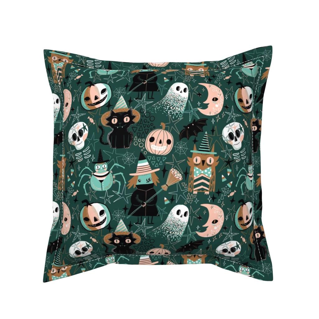 Serama Throw Pillow featuring Hello Halloween! by kostolom3000