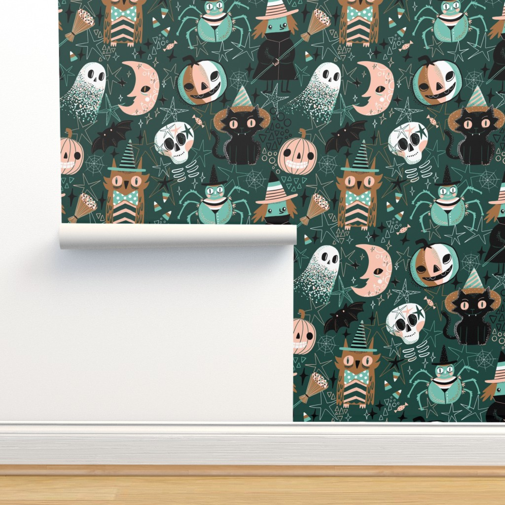 Isobar Durable Wallpaper featuring Hello Halloween! by kostolom3000