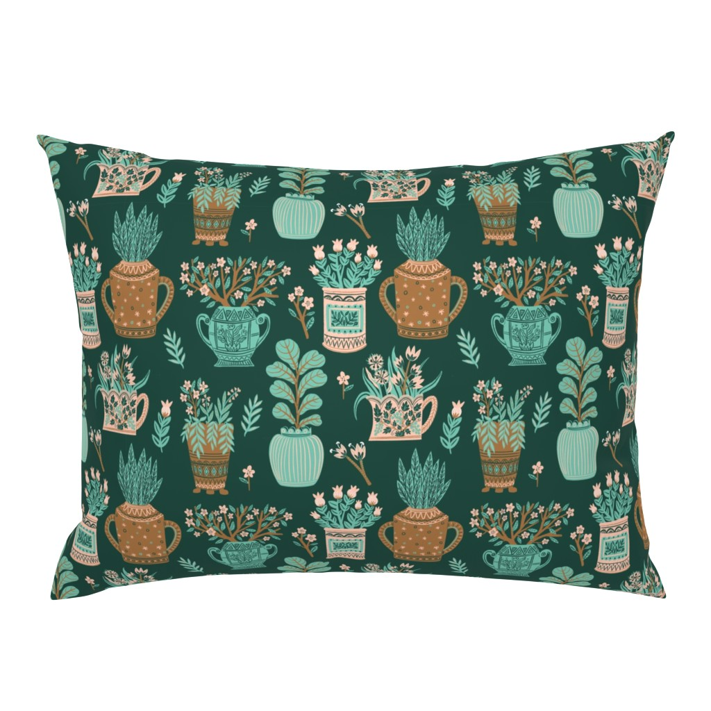 Campine Pillow Sham featuring You can never have too many plants by samantha_dolan