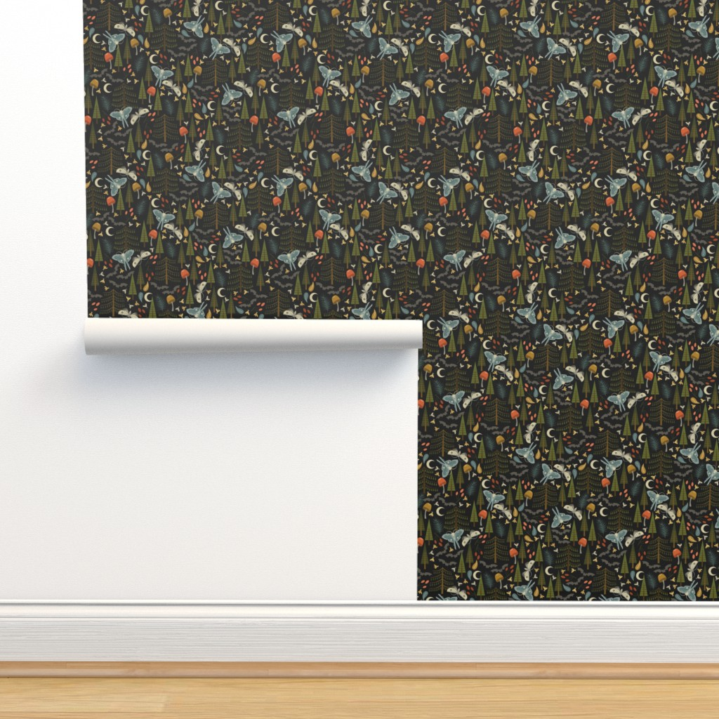 Isobar Durable Wallpaper featuring The Forest Wakes at Night by oliveandruby