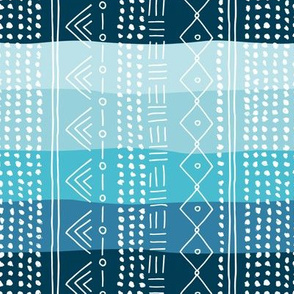 Minimal mudcloth bohemian mayan abstract indian summer love aztec design baby blue rainbow