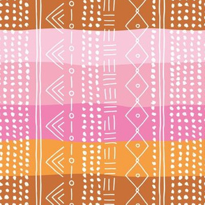 Minimal mudcloth bohemian mayan abstract indian summer love aztec design baby pink rainbow girls