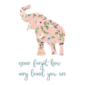 floral elephant never forget