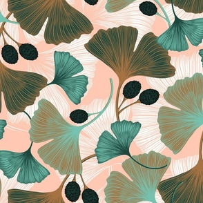Ginkgo Leaves - Spring Rose & Spearmint