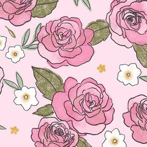 Pink Roses - Medium Print