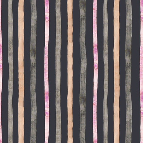 Soft Stripes Greys and Pinks