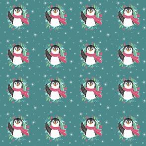 cuddly penguin waves