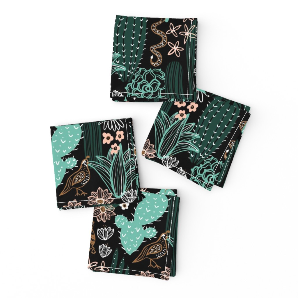 Frizzle Cocktail Napkins featuring Sonoran Landscape by robyriker