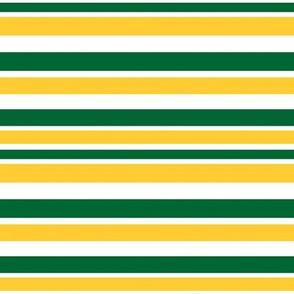 Horizontal Green Gold Stripes