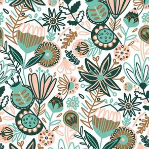 July Floral (Large Version)