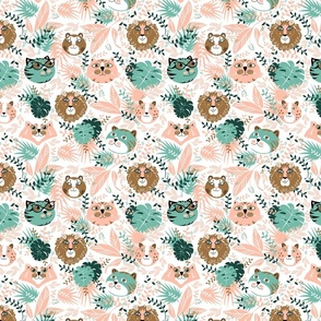 Tropical-Forest-Animals-Tigers-and-Lions-Pink-and-Gold-400