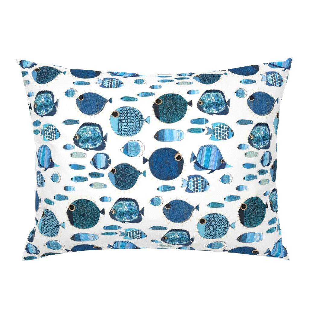 Campine Pillow Sham featuring Pufferfish and friends by madebycbk