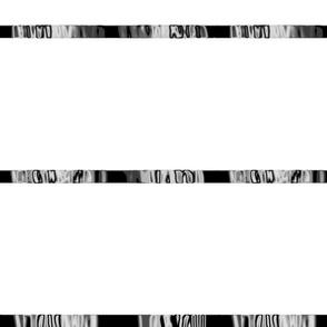 Black & White with Black Chrome Ribbon