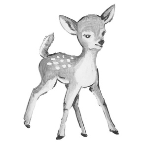 Fawn in Grayscale