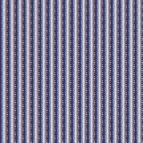 "Chalet View Stripe - midnight - 1"" scale"