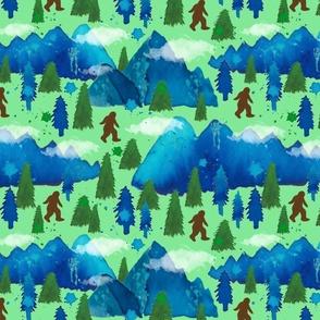 Bigfoot watercolor