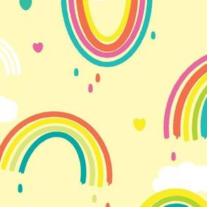 Painted Rainbows - Larger Print