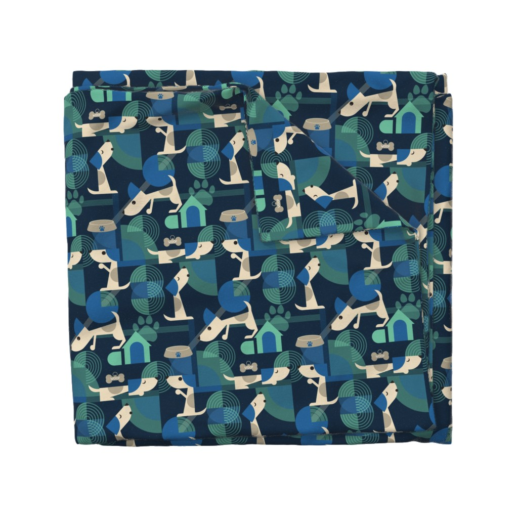 Wyandotte Duvet Cover featuring Bow-wow haus by roofdog_designs