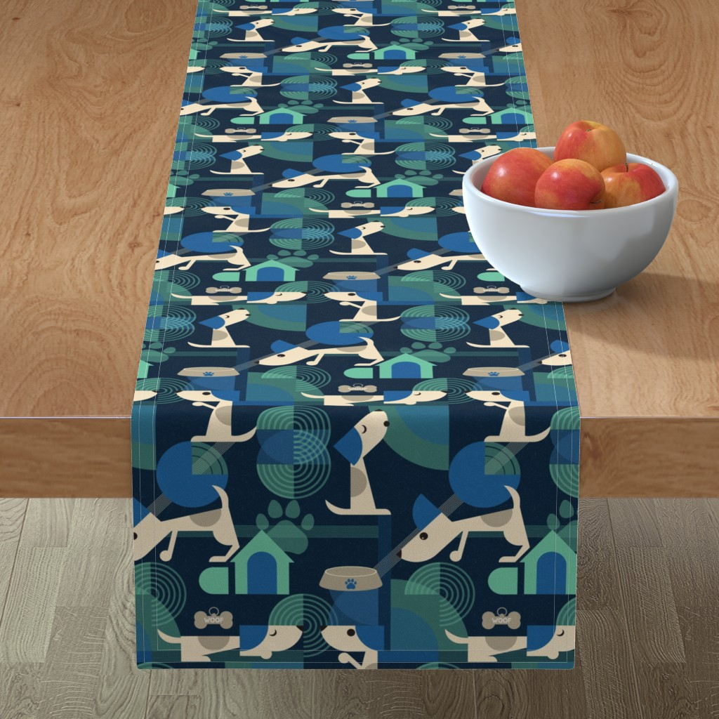 Minorca Table Runner featuring Bow-wow haus by roofdog_designs