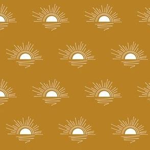 sunset - golden, midi scale
