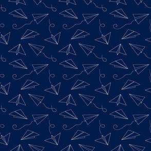 Paper Plane Outline // Navy