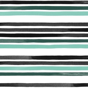 Small Watercolor Stripes White Spearmint Multi by Friztin
