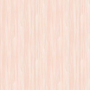 Vertical Miniature Watercolor Stripes Rosé by Friztin