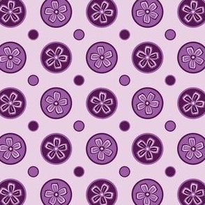 Super Purple Flower Dots!