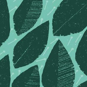 Papercut Bouquet Greens Spearmint Forest By Friztin