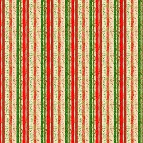 Mini Prints: Christmas Festival - Plain Multi Stripe