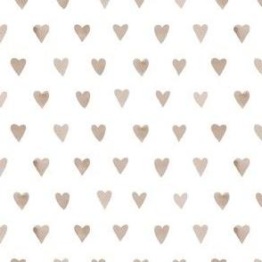 Mini Amber Hearts // White