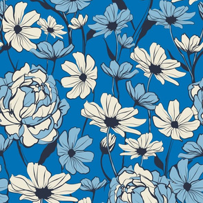 Wild Peony - Blue