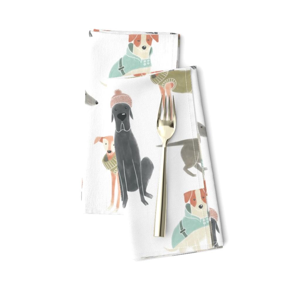 Amarela Dinner Napkins featuring Warm doggies by circe_oropeza