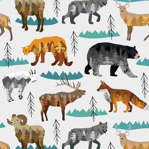 Mountain animals light grey