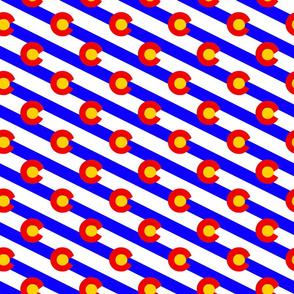 Colorado diagonal stripe small scale