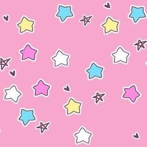 star coordinate on pink