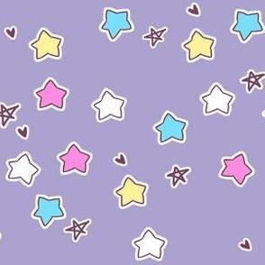 star coordinate on purple