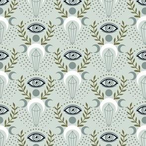 Mystical Eye and Crystal