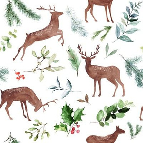 Holiday Deer // White